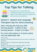 Top Tips for Talking - Parentline NI sessions